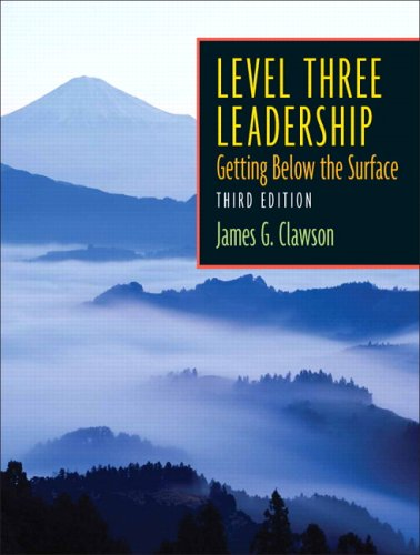 Level Three Leadership Getting below the Surface 3rd 2006 (Revised) edition cover