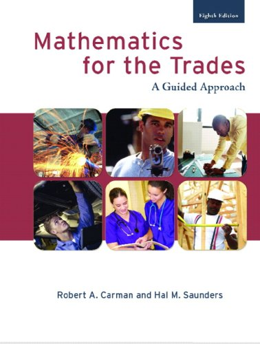Mathematics for the Trades A Guided Approach 8th 2008 edition cover
