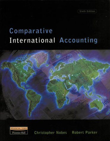 Comparative International Accounting  6th 2000 9780273646020 Front Cover