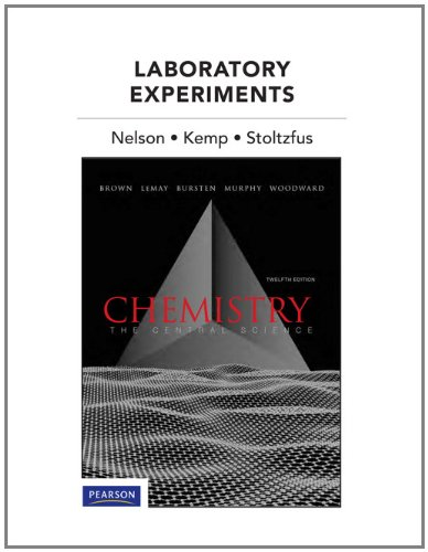 Laboratory Experiments for Chemistry The Central Science 12th 2012 (Revised) edition cover