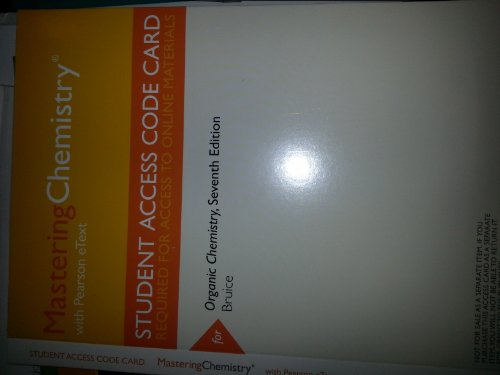 MasteringChemistry with Pearson Etext -- Valuepack Access Card -- For Organic Chemistry (ME Component)  2014 edition cover
