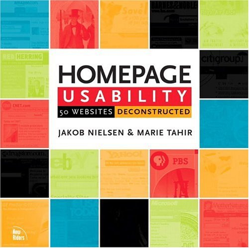 Homepage Usability 50 Websites Deconstructed  2002 edition cover