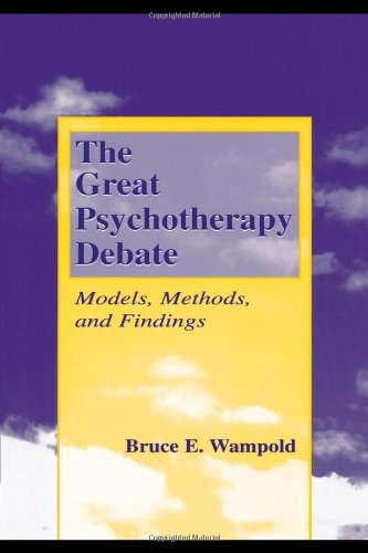 Great Psychotherapy Debate Models, Methods, and Findings  2001 edition cover