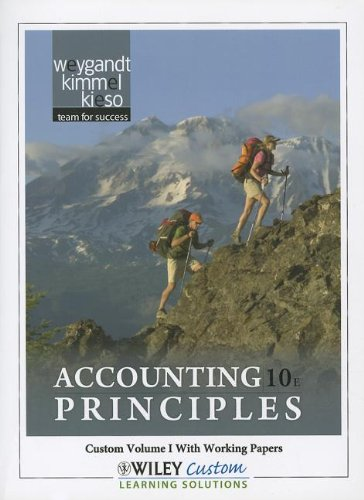 Accounting Principles 10E Volume 1 for Paradise Valley Community College  10th 2011 9781118106020 Front Cover