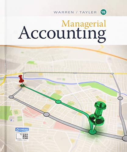 Managerial Accounting:   2019 9781337912020 Front Cover