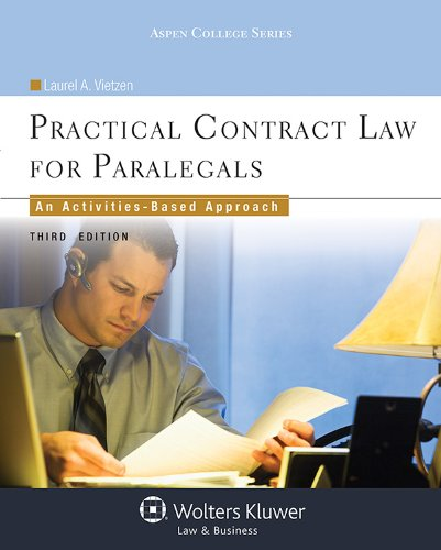 Practical Contract Law for Paralegals: An Activities-based Approach  2013 edition cover