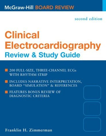 Clinical Electrocardiography Review and Study Guide 2nd 2004 (Revised) edition cover