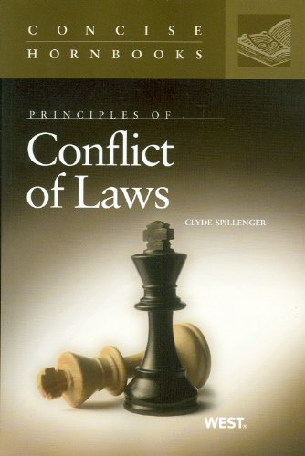 Spillenger's Conflict of Laws   2010 edition cover