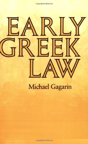 Early Greek Law   1986 edition cover