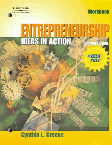Entrepreneurship Ideas in Action 2nd 2004 9780538436021 Front Cover