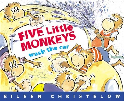 Five Little Monkeys Wash the Car   2004 9780618486021 Front Cover
