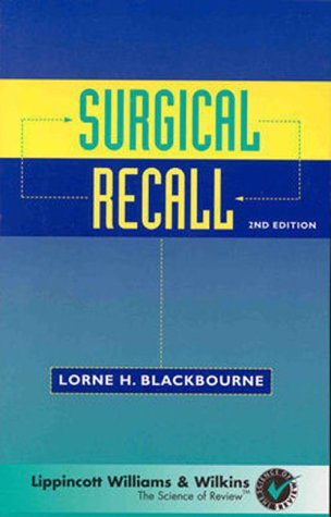 Surgical Recall  2nd 1998 (Revised) 9780683301021 Front Cover