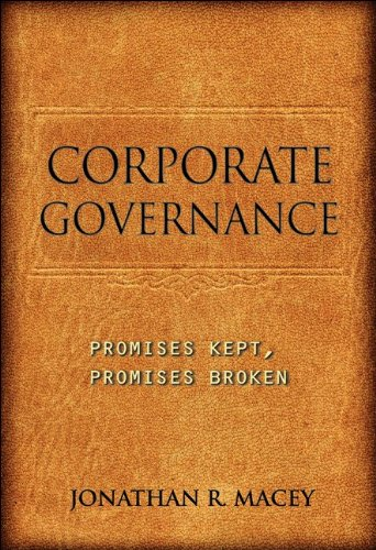 Corporate Governance Promises Kept, Promises Broken  2011 edition cover