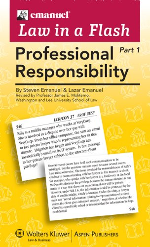 Professional Responsibility Liaf 2010  Student Manual, Study Guide, etc.  edition cover