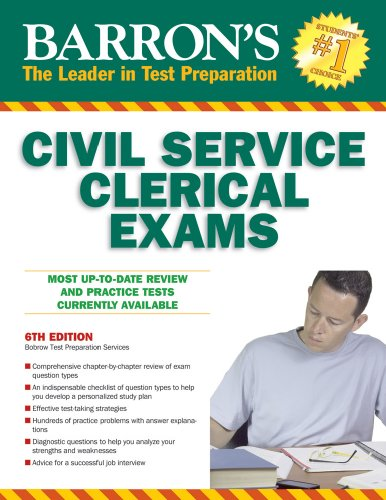 Barron's Civil Service Clerical Exam  6th 2010 (Revised) edition cover