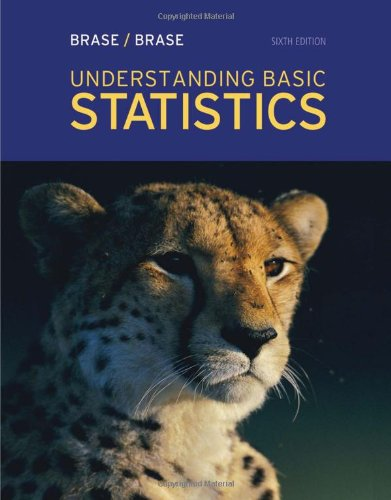 Understanding Basic Statistics  6th 2013 9781111827021 Front Cover