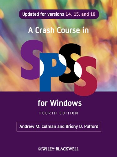 Crash Course in SPSS for Windows  4th 2008 edition cover