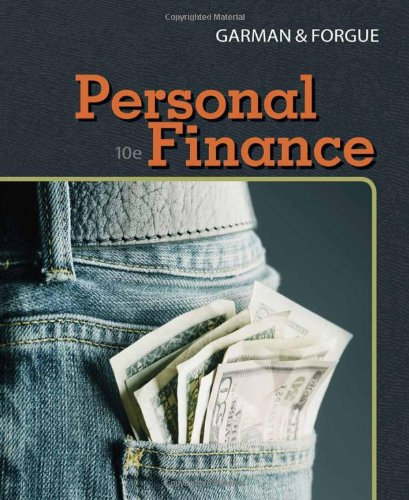 Personal Finance  10th 2009 edition cover