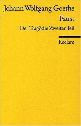 FAUST 2:DER TRAGODIE ZWEITER T 1st edition cover
