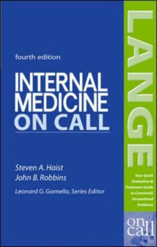 Internal Medicine on Call  4th 2005 (Revised) edition cover