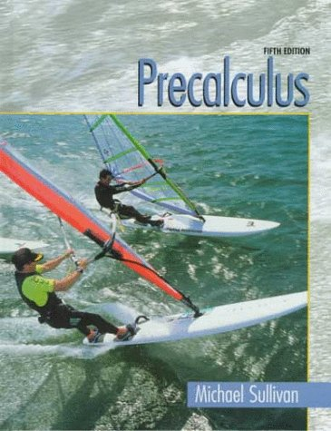 Precalculus  5th 1999 (Student Manual, Study Guide, etc.) 9780130954022 Front Cover