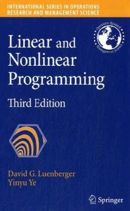 Linear and Nonlinear Programming  3rd 2008 edition cover