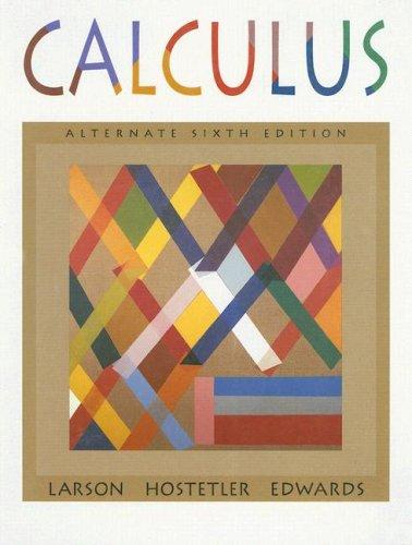 Calculus, Alternate  6th 1998 (Alternate) edition cover