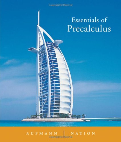 Essentials of Precalculus   2006 edition cover