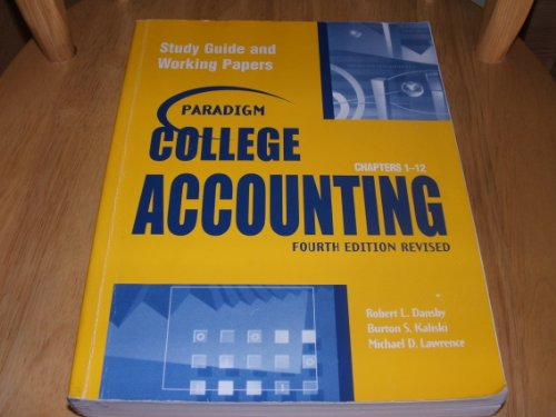 Paradigm College Accounting 4th 2004 9780763820022 Front Cover