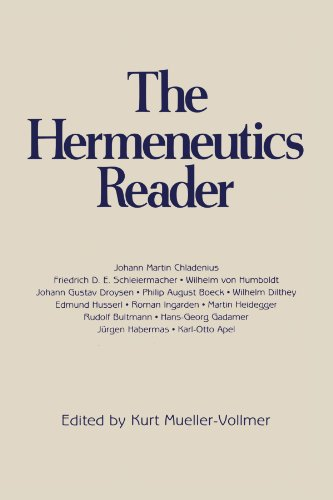Hermeneutics Reader Texts of the German Tradition from the Enlightenment to the Present  2002 (Revised) 9780826404022 Front Cover