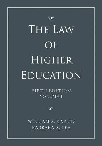 LAW OF HIGHER EDUCATION-VOL.1  N/A 9781118032022 Front Cover