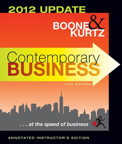 Contemporary Business 2012  14th 2012 (Revised) edition cover