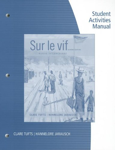 SAM for Tufts/Jarausch's Sur le Vif: Niveau Intermediaire, 6th  6th 2014 edition cover