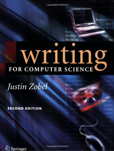 Writing for Computer Science  2nd 2004 (Revised) edition cover