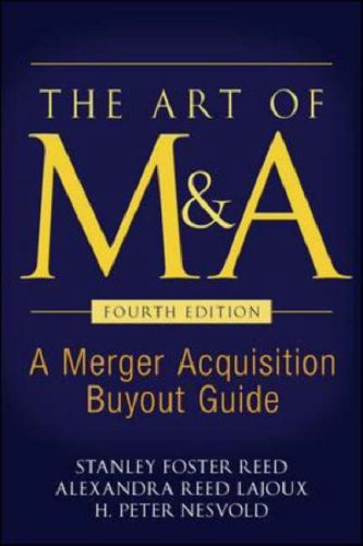 Art of M and A A Merger Acquisition Buyout Guide 4th 2007 (Revised) edition cover