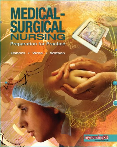 Medical Surgical Nursing Preparation for Practice  2010 edition cover