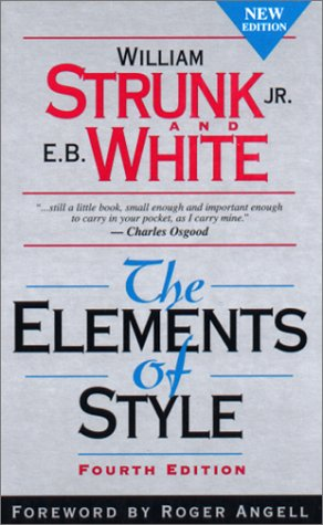 Elements of Style  4th 2000 edition cover