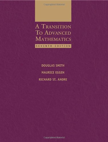 Transition to Advanced Mathematics  7th 2011 edition cover