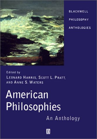 American Philosophies An Anthology  2001 edition cover