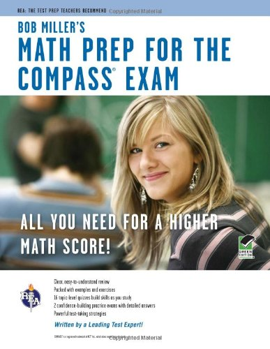 COMPASS Exam - Bob Miller's Math Prep  N/A edition cover