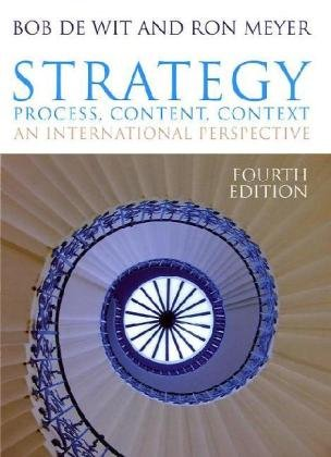 Strategy Process, Content, Context 4th 2010 edition cover