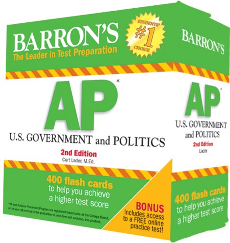Barron's AP U. S. Government and Politics Flash Cards, 2nd Edition  2nd 2014 (Revised) edition cover