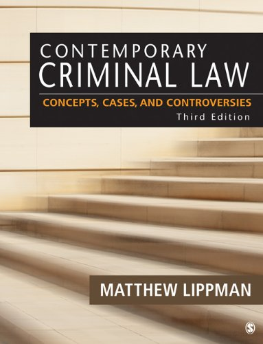 Contemporary Criminal Law Concepts, Cases, and Controversies 3rd 2013 edition cover