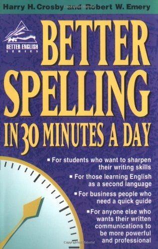Better Spelling in 30 Minutes a Day   1997 edition cover