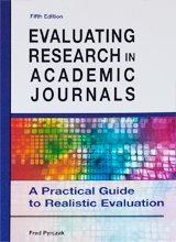Evaluating Research in Academic Journals: A Practical Guide to Realistic Education  2012 edition cover