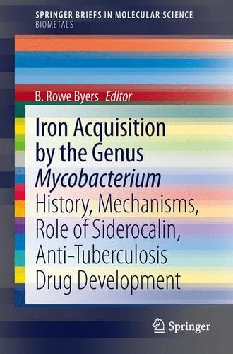 Iron Acquisition by the Genus Mycobacterium History, Mechanisms, Role of Siderocalin, Anti-Tuberculosis Drug Development  2013 edition cover