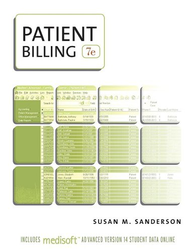 Patient Billing 7th 2010 edition cover
