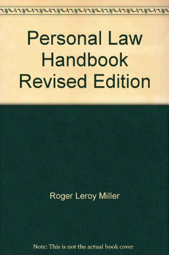 Personal Law Handbook   1995 (Revised) 9780314059024 Front Cover