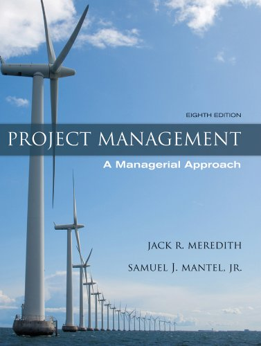 Project Management A Managerial Approach 8th 2012 edition cover