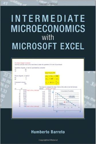 Intermediate Microeconomics with Microsoft Excel   2009 edition cover